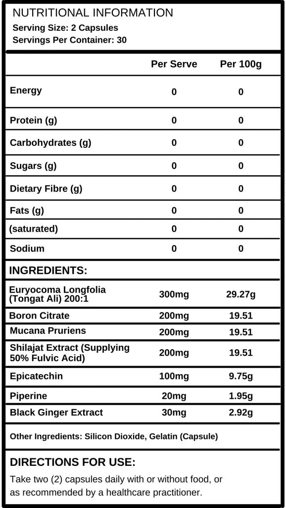 Reset Nutrition T-Lift Panel - Full